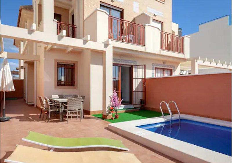 Flagship Private Villa 3 Bedroom + pool - sleeps 6 (El Puerto de Mazarron) – semesterbostad i Puerto de Mazarron