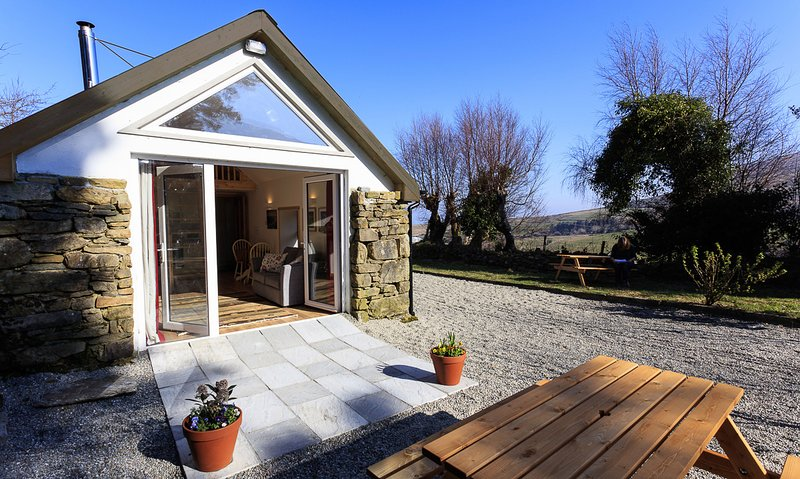 Your own private patio to enjoy the peace of the Reeks mountain countryside.