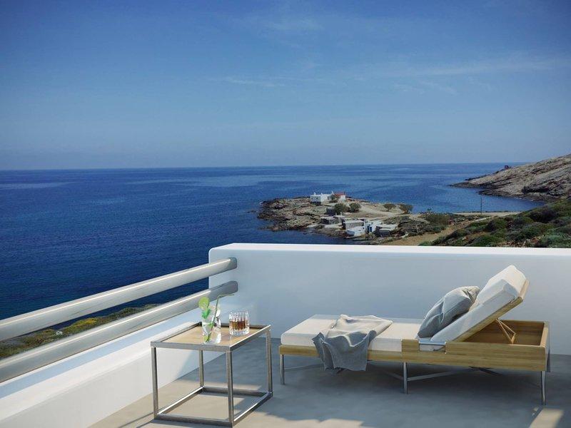Mykonos Big Blue Villas Suites At The Seaside, holiday rental in Kalafatis