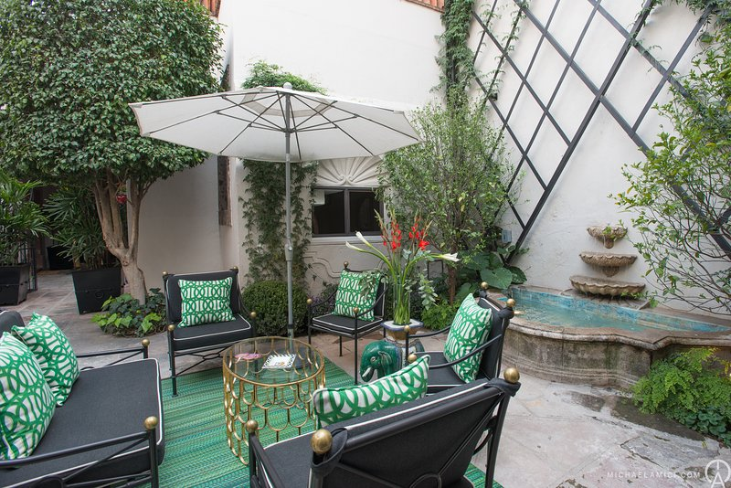 Stunning garden terrace for use for Casita Agua guests when main house is not rented!