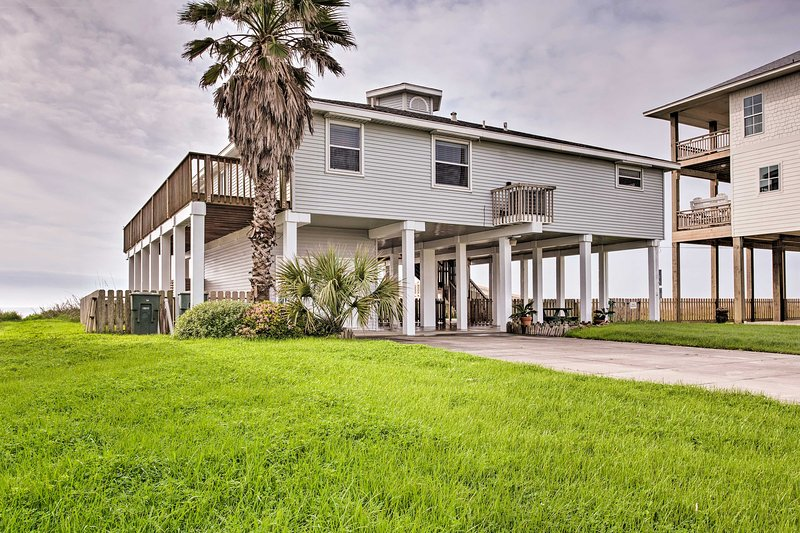 Book now to enjoy beachside bliss, all just a 25-minute drive from Galveston!