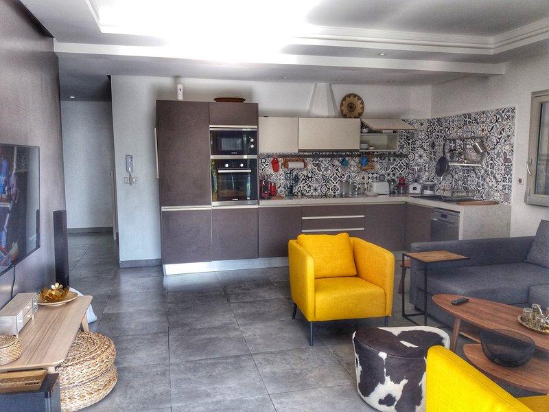 Moderne appartement au bord de la plage, location de vacances à Essaouira
