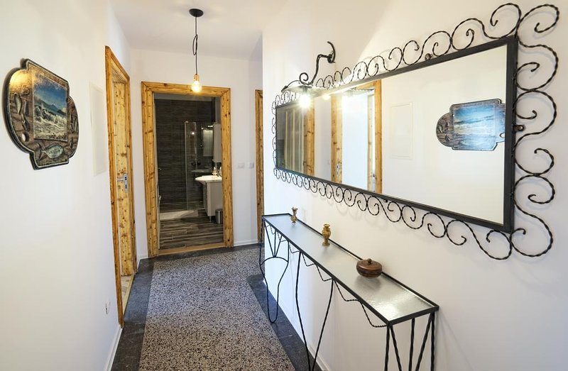 Spacious and comfortable retro-modern apartment near city center, holiday rental in Drazice