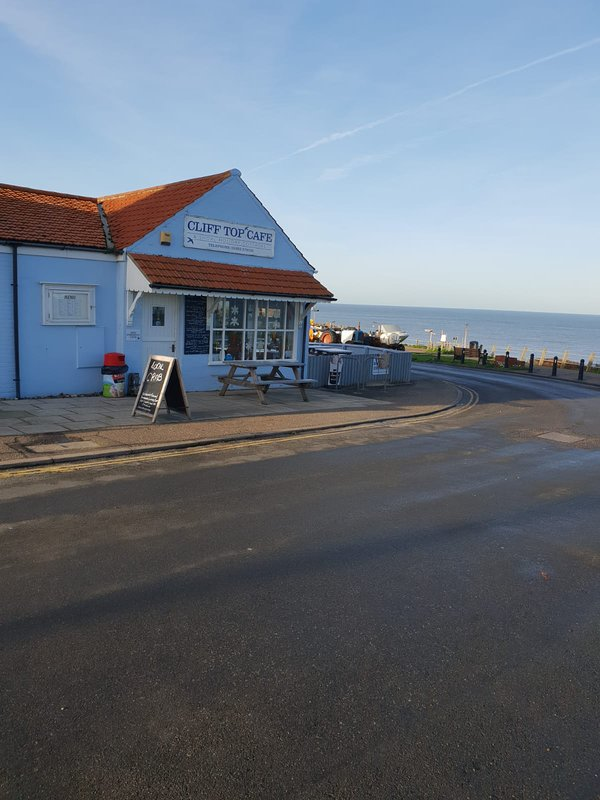 Cliff top Café Overstrand in my opinion the best fish and chips with sea views
