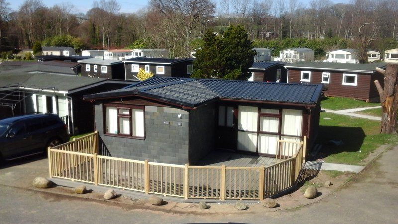 New Decking Area fitted to the front of the chalet.