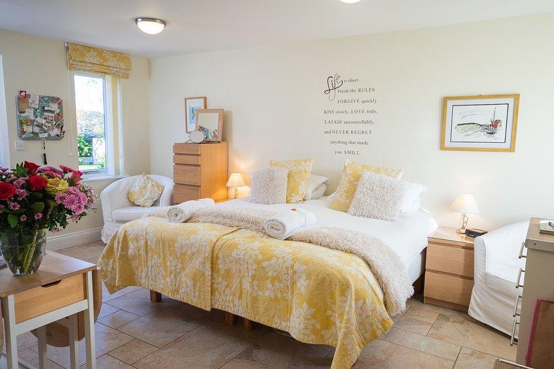 Apartamento tipo estudio amplio y luminoso, con una opción de superking o dos camas individuales