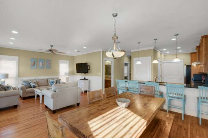 Large open concept living area on the main level of the home!