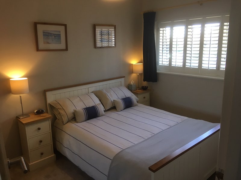Bedroom with new, comfortable memory foam mattress.