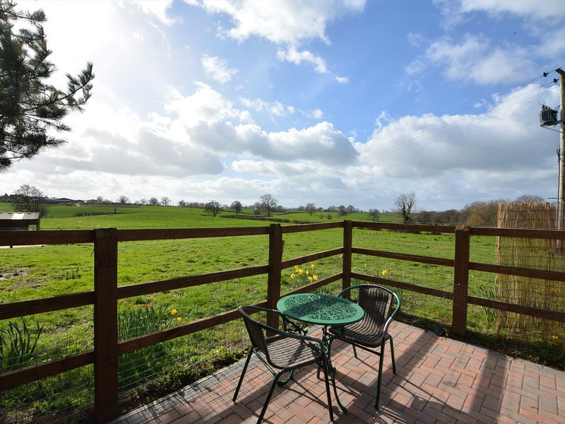 Relax on a summers evening with countryside views