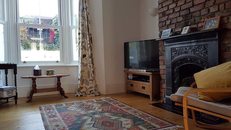 The Hideaway's cosy living room