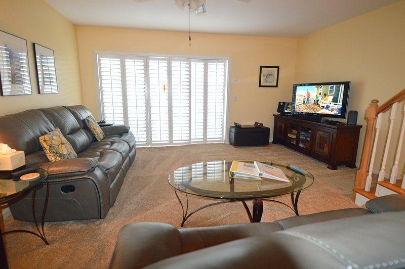 Plantation shutters throughout the home.