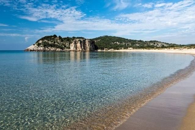 Voidokilia (awarded) beach next to Gialova lake (protected area by Natura 2000) (70km)