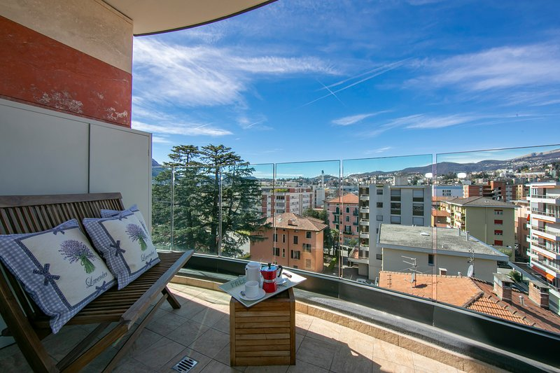 Panoramic Penthouse, holiday rental in Comano