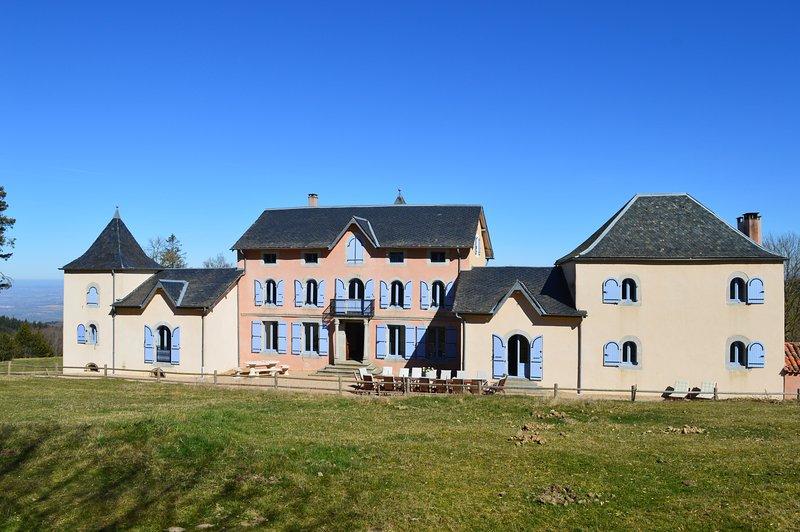 Gîte En Dardé 15 - Schitterend Château uit 1800 op 90 hectare bos en grasland, holiday rental in Lacombe
