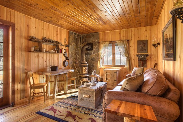 No detail was overlooked in creating a feeling of an authentic rustic pioneer experience.