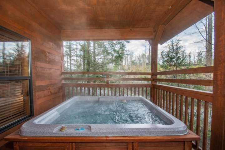 While at Sweet Serenity enjoy some downtime in the hottub after a long day of adventures!