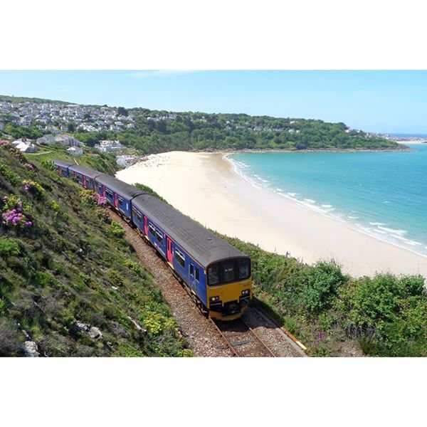 Train into St Ives