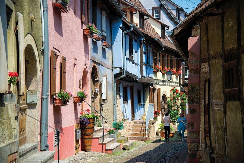 Paseo por las calles de Riquewihr.