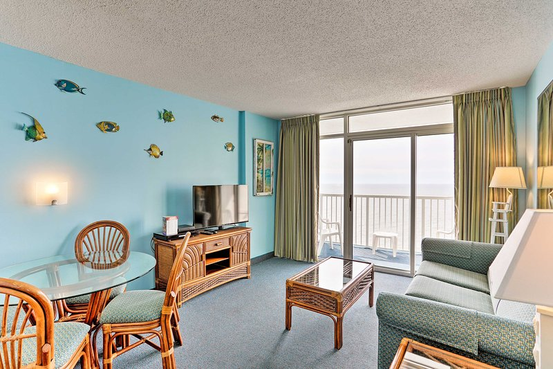 Get ready for an oceanfront getaway at this lovely Myrtle Beach vacation rental!