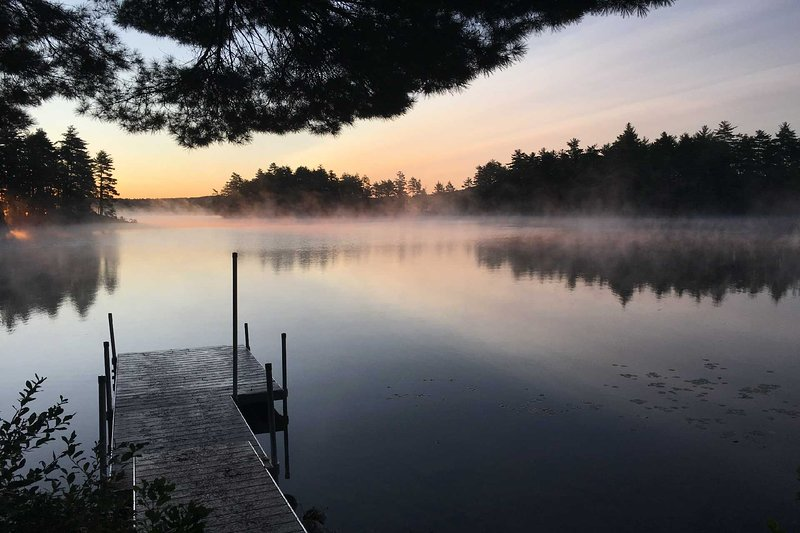 Watch the sunrise on the property's private dock!