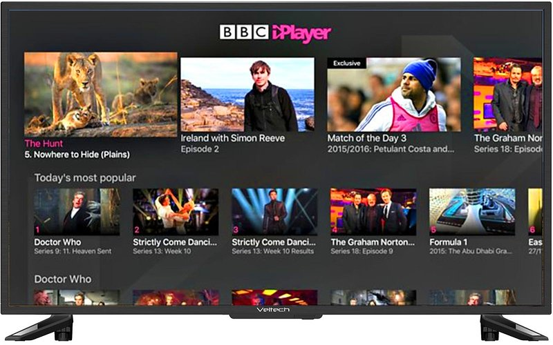 Smart TV with internet connection including BBCiPLayer...