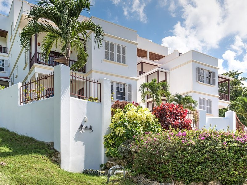 Spacious 1 bed-roomed apartment with large balcony with pool and sea view., holiday rental in Gibbes