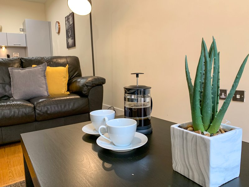 Ingram One Bedroom Apartment - Merchant City with Parking, holiday rental in Glasgow
