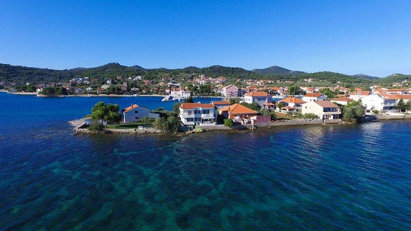 Beautiful Villa One, on the Island of Ugljan, holiday rental in Preko