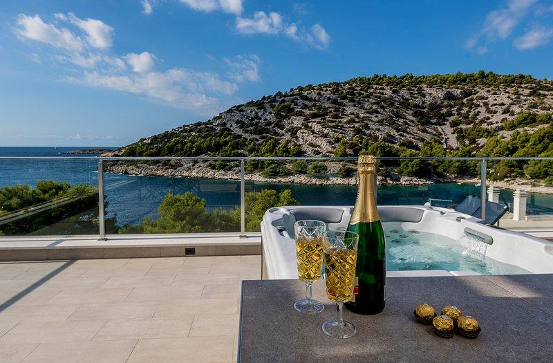 Luxury Villa Tatjana, in Dalmatia, with a Sea view, vacation rental in Razanj
