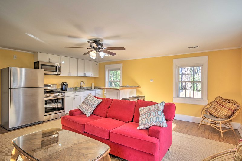 Plan your South Carolina retreat to this updated 1-bed, 1-bath vacation rental!
