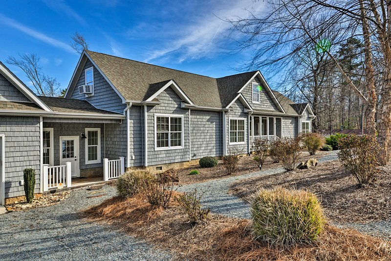 The waterfront home features dock access on High Rock Lake.