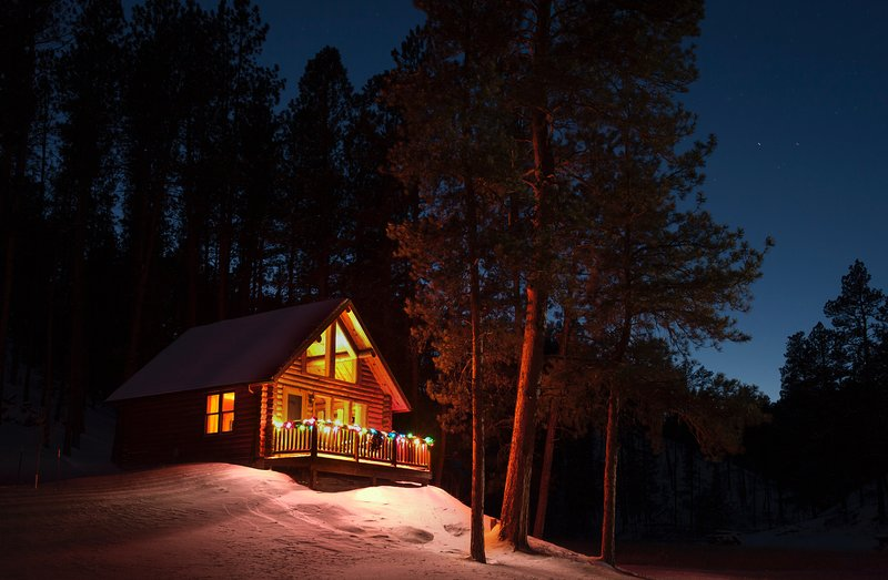 Our Deer Hollow Cabin is available year-around. Winter and holidays are a wonderful time to visit!
