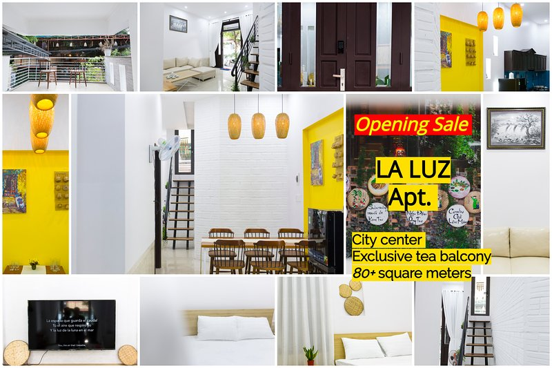 LA LUZ - a little gem in city center - 80+ square meters - exclusive tea balcony, holiday rental in Hue