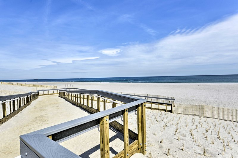 Located in Seaside Heights, this home is steps from the beach.