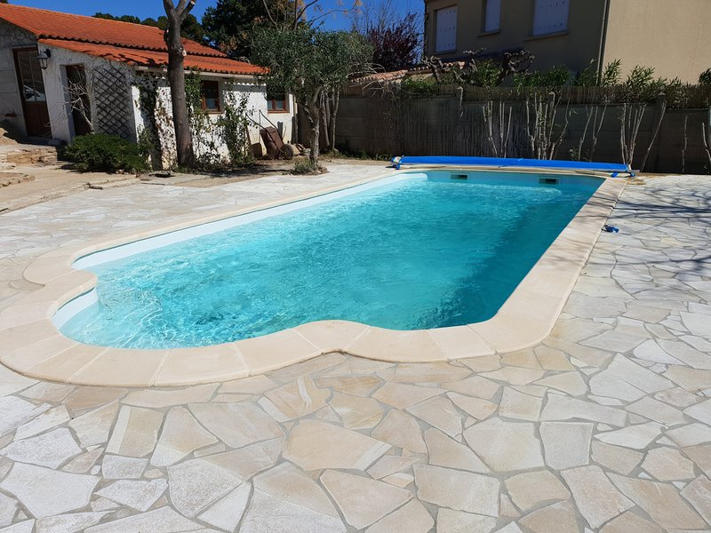 10m x 4m Pool, 1-2 m deep, new for 2019. Heated early and late Summer (in use June- September)