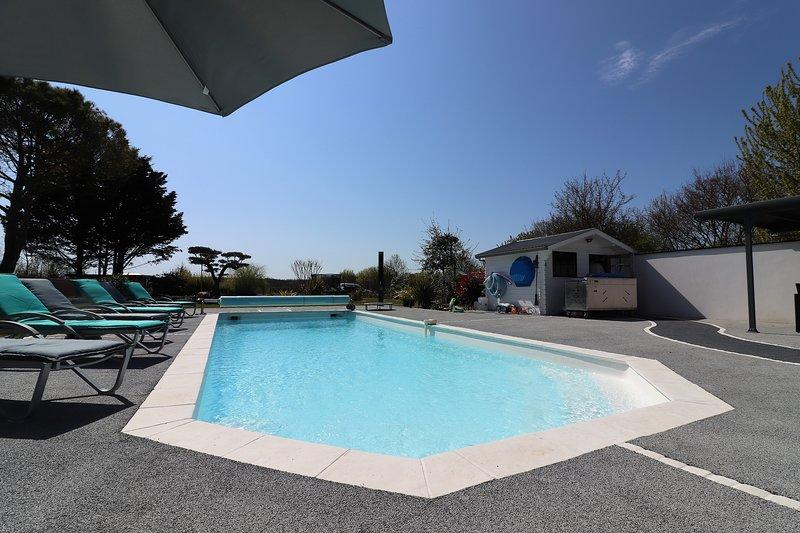 The Maisonnette Du Bois heated pool