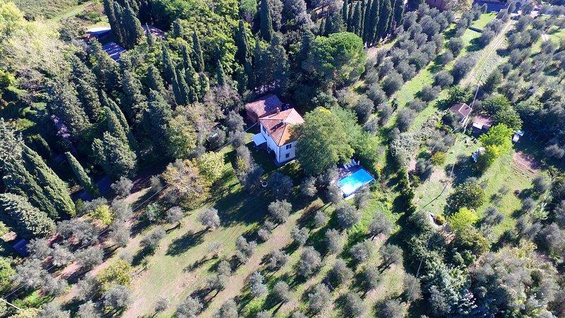 TUSCAN HILLS - TENUTA DI GHIZZANO - CASA GUARDIA 8 - 10 pax, vacation rental in Ghizzano