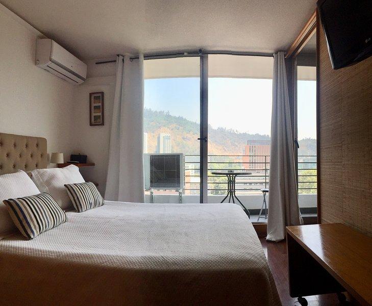 Hermosa vista, AC y calefacción en la habitación