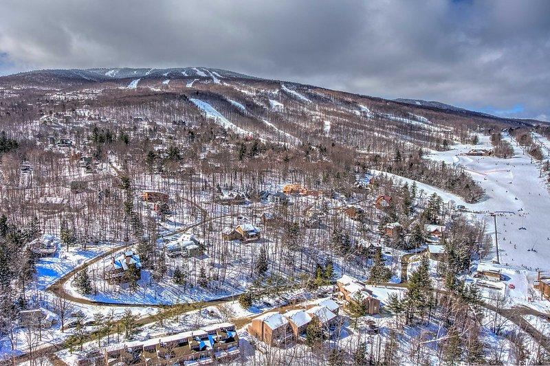Okemo erbjuder också lektioner för nya skidåkare och snowboardåkare!