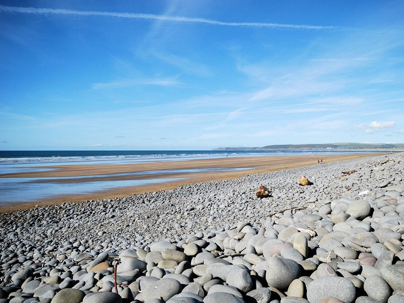 Westward Ho! sandy beach just a 5 minute drive/short walk away