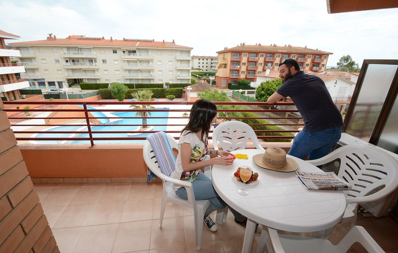 Enjoy the fresh air on your balcony or patio! Please note that views may vary.