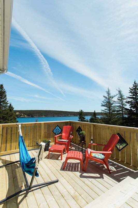 Sit and relax and watch whales from your private decks