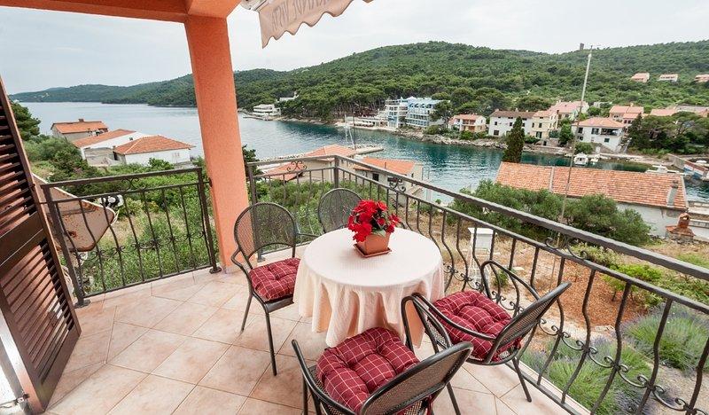 Ivan - sea view & serenity:  A2(5+1) - Bozava, holiday rental in Bozava