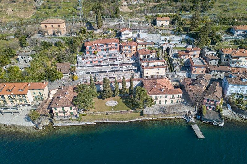 Vista aérea de la residencia