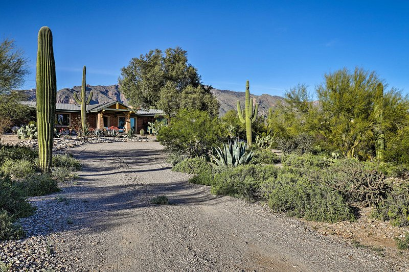 This private casita is located in the Catalina Foothills with beautiful views.