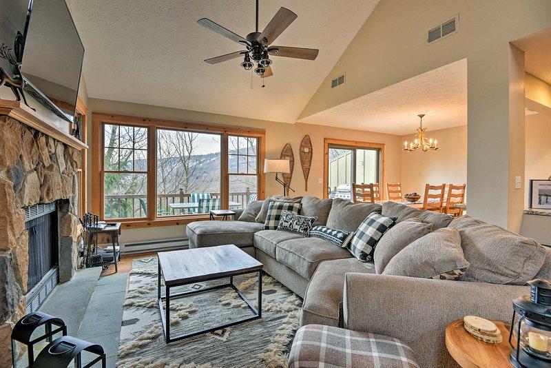 Faites de cette maison en location de vacances à Tannersville votre base personnelle en Pennsylvanie.