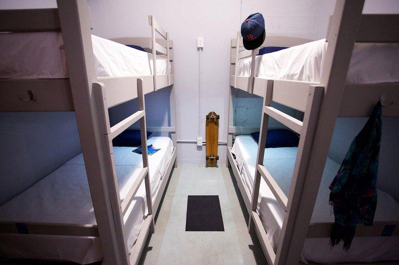 Habitación Coati 4 personas litera habitación hazaña. Aire acondicionado y wifi gratis.