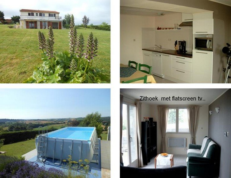 Between Toulouse and Lourdes Quietly situated house, 2 bedrooms + 2 bathrooms and large garden.