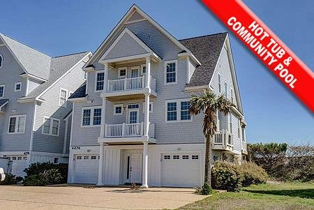 4276 Island Drive - 6BR Oceanfront House in North Topsail Beach with Hot Tub, Fo, alquiler de vacaciones en Topsail Island