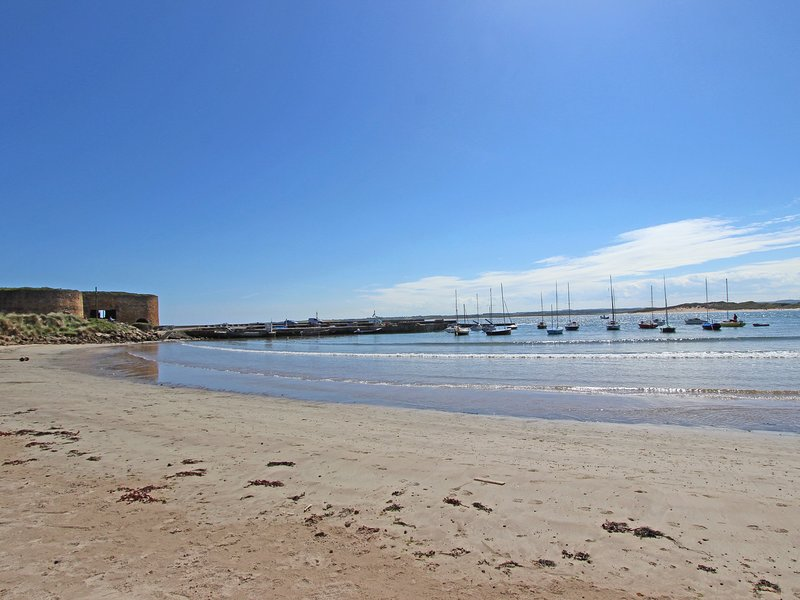 View of Beadnell harbour